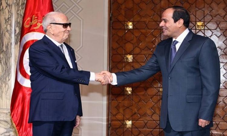 بالصور .. السيسى يستقبل الرئيس التونسى بقصر الاتحادية