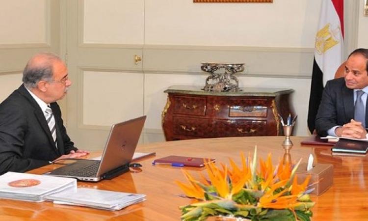 السيسى يلتقى رئيس الوزراء لبحث سير الانتخابات البرلمانية