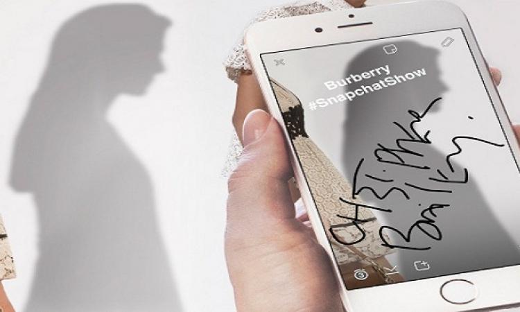 بيربيرى تتعاون مع تطبيق سناب خلال أسبوع الموضة فى لندن
