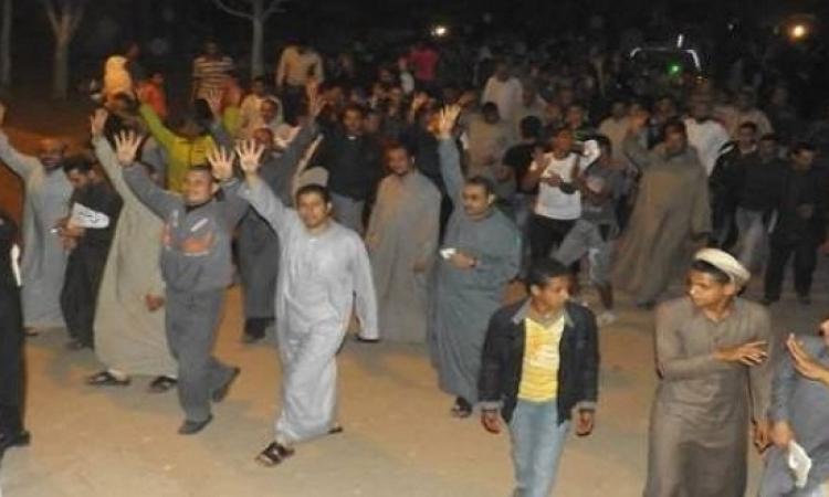 أهالى مدينة السادات يفضون مظاهرة للإخوان بالحجارة والمياه