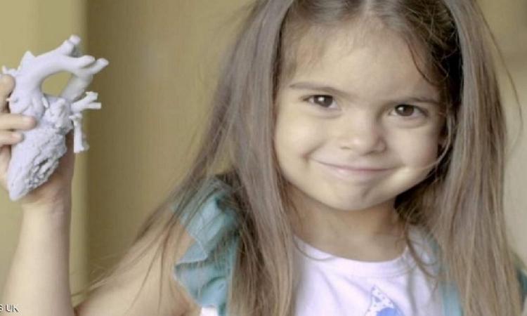 قلب مطبوع .. ينقذ حياة طفلة عمرها 5 سنوات !!
