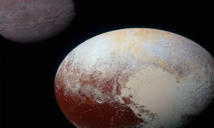 ناسا تظهر لأول مره صور ملونة  لكارون قمر بلوتو