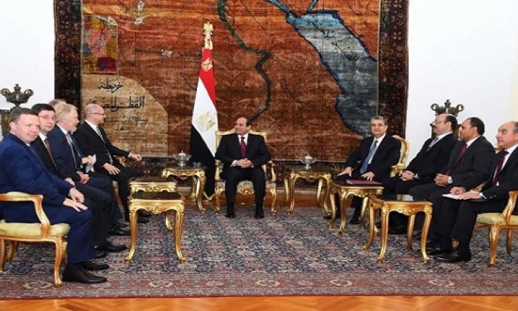 السيسي: المحطة النووية فى الضبعة تضاف للإنجازات المصرية الروسية