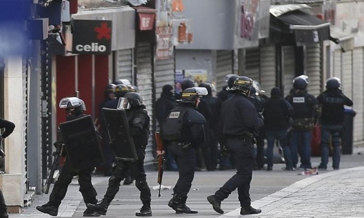 بالصور .. العملية الأمنية فى ضاحية سان دونى شمال باريس