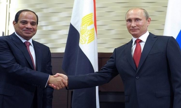 بوتين يشيد بالسيسى : تولى السلطة فى وضع طارئ لتحقيق استقرار مصر