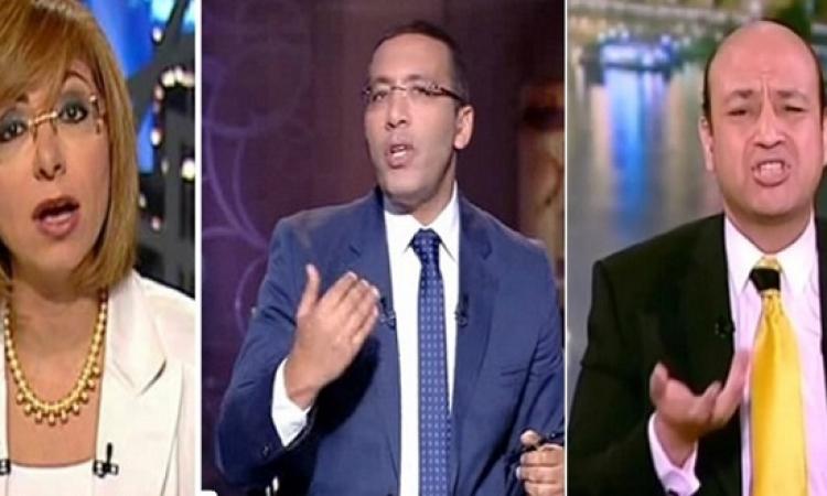 بالصور .. خالد صلاح يعّلِم على اديب ولميس ثم يمسح التغريدة