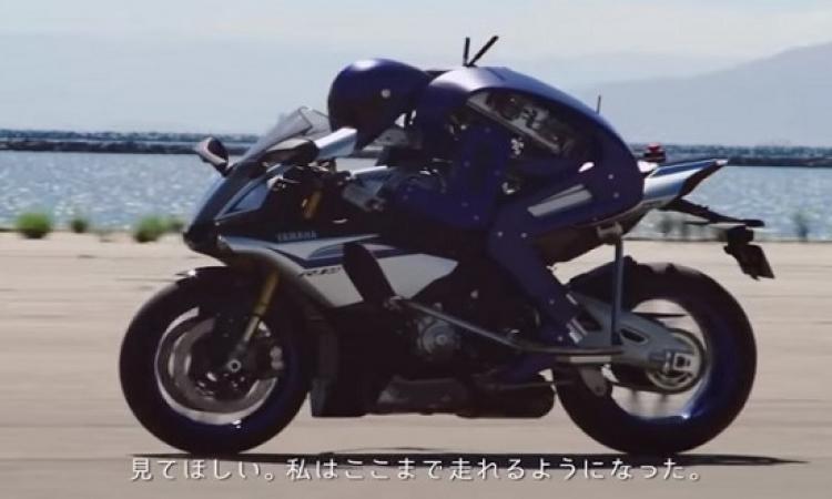 بالفيديو .. روبوت يقود دراجة نارية بمهارة فائقة