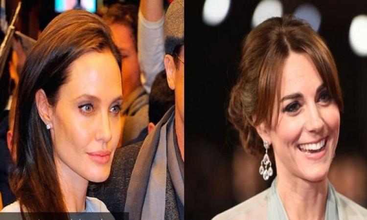 بالصور .. أنجلينا جولى تستنسخ إطلالة كيت مدلتون .. فمن الأجمل !!