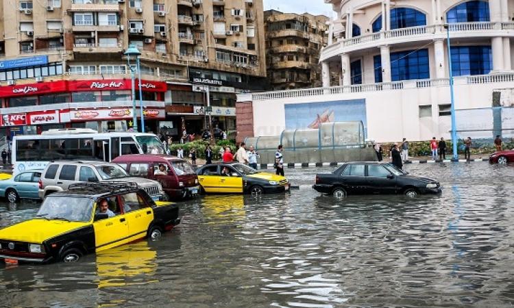 أمطار متوسطة علي الاسكندرية واستمرار حركة الملاحة في بوغازي الإسكندرية والدخيلة