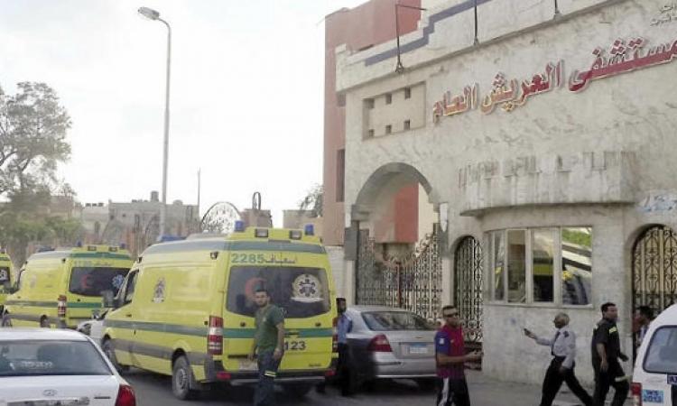 استشهاد نقيب شرطة بالعريش بعد اطلاق مجهولين النار عليه
