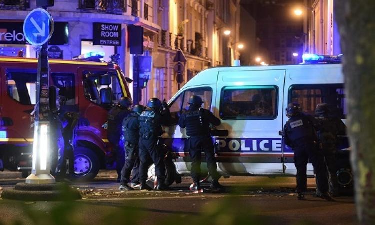 بالفيديو .. تبادل إطلاق نار بين الشرطة وأحد الانتحاريين بباريس