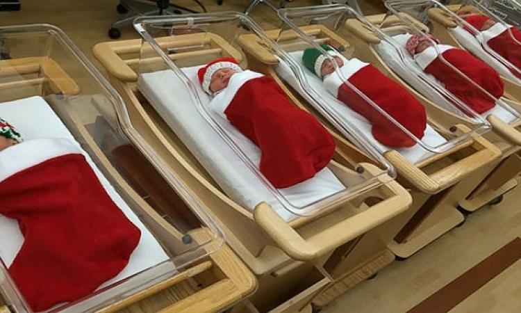 بالصور .. احتفال المستشفيات بالكريسماس .. طبى فطبى !!
