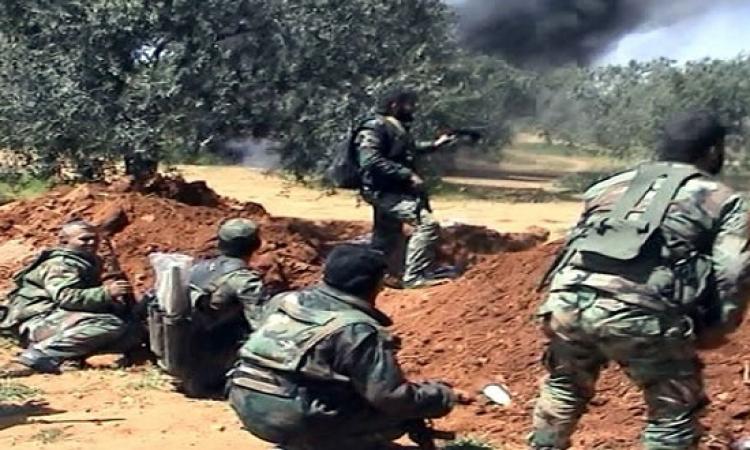 الجيش السورى يوجه ضربات مركزة على مقرات تنظيم داعش