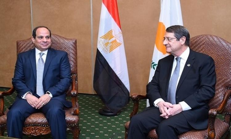 السيسى يبحث مع رئيس قبرص التبادل التجارى واستقبال وتسييل الغاز