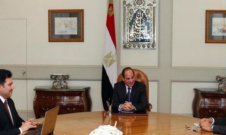السيسى يبحث مع وزيرى الخارجية والرى أزمة سد النهضة