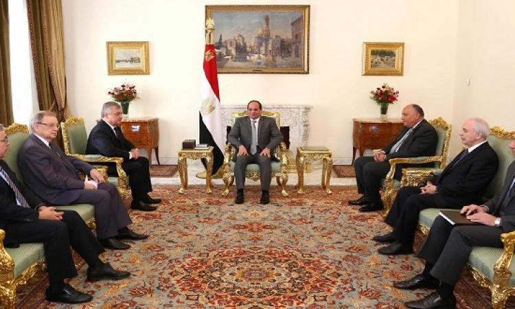 مبعوث بوتين يؤكد للسيسى حرص روسيا على التشاور مع مصر بشأن سوريا