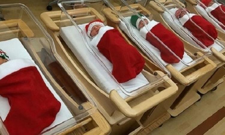 مستشفيات أوروبا تحتفل بالكريسماس بطريقتها الخاصة