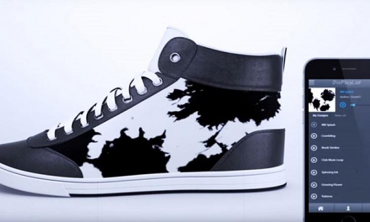 بالفيديو .. حذاء رياضى يتغير لونه وتصميمه حسب مزاجك !!