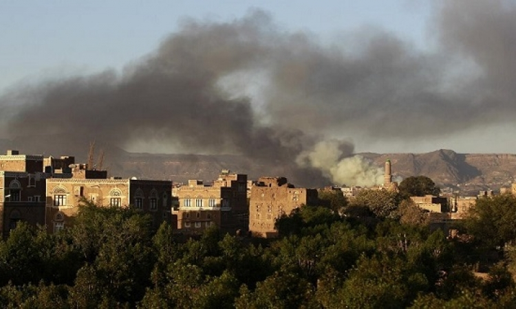 التحالف يقصف مواقع الحوثيين فى صنعاء وعمران