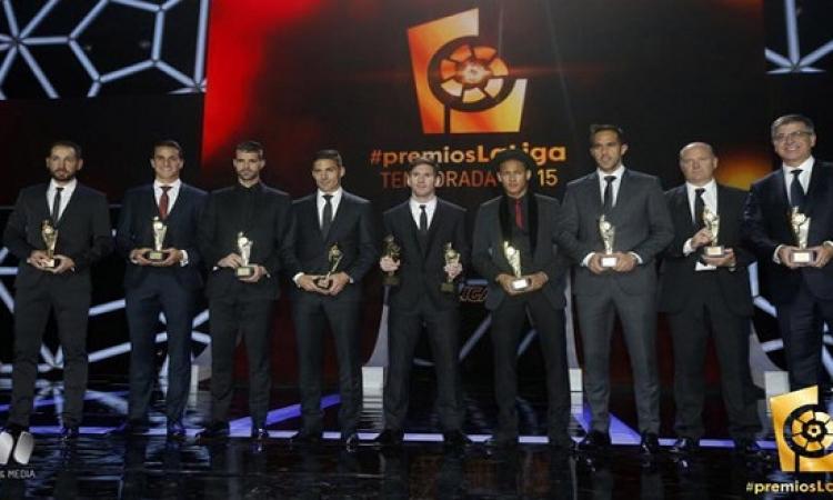 نجوم برشلونة وريال مدريد يحتكرون جوائز الليجا