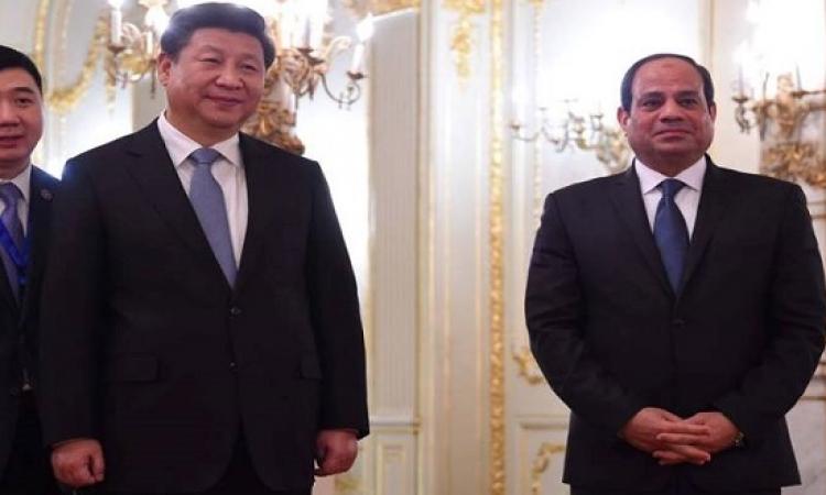 السيسى وبينج يشهدان توقيع اتفاقات ويطلقان المنطقة الصناعية الصينية