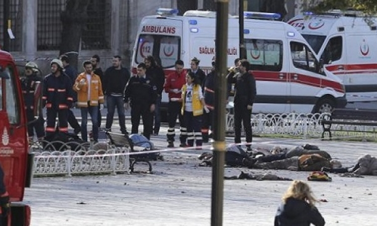 10 قتلى و15 مصابا فى انفجار ساحة السلطان أحمد فى اسطنبول