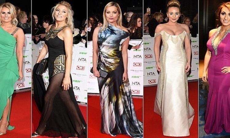بالصور .. عرض أزياء 10 نجوم فى حفل جوائز التليفزيون البريطانى