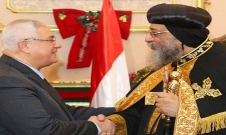 عدلى منصور يُهنئ البابا تواضروس بعيد الميلاد