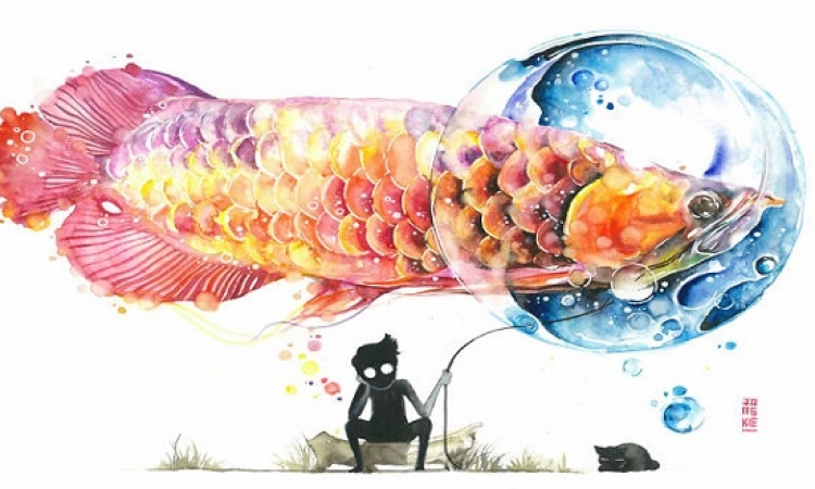 لوحات سيريالية مذهلة بألوان الماء .. كل أبطالها حيوانات !!