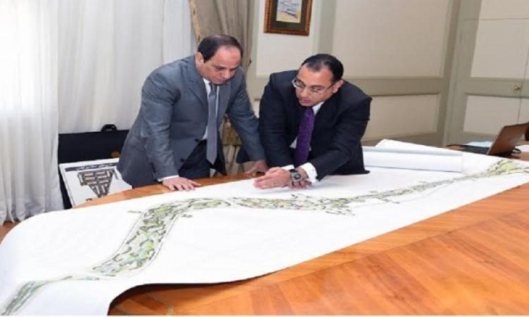 وزير الإسكان يُطلع الرئيس على المرحلة الأولى السكنية بالعاصمة الإدارية