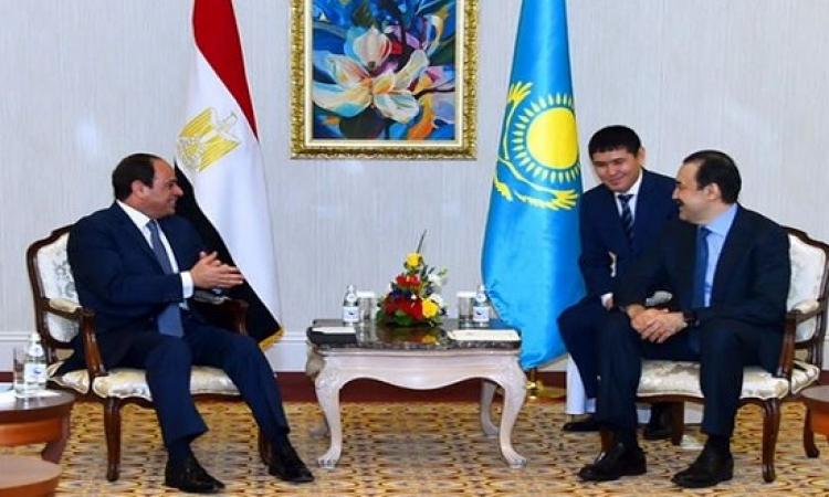 بالصور .. السيسى يواصل زياته لكازاخستان ويلتقى رئيس الوزراء