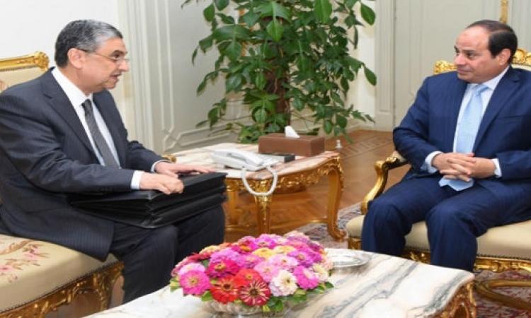 السيسى يبحث مع وزير الكهرباء تفاصيل عقد الضبعة النووى