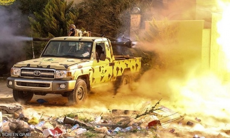 الجيش الليبى يسيطر على منطقة الليثى فى بنغازى