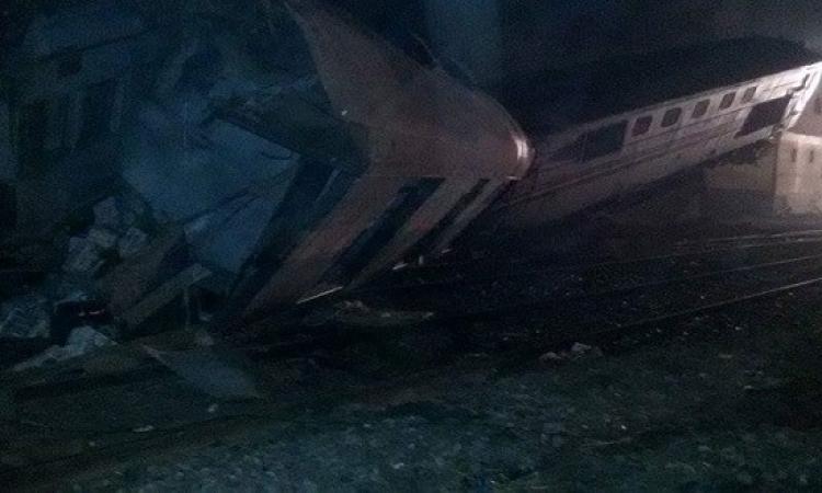 إصابة 70 شخصاً فى انقلاب قطار ببنى سويف