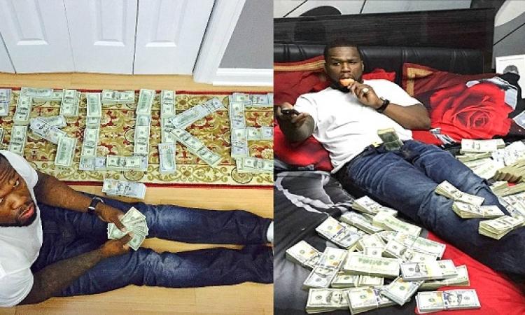 صور 50 Cent وهو يسبح بين الدولارات تقوده للمحكمة ؟!