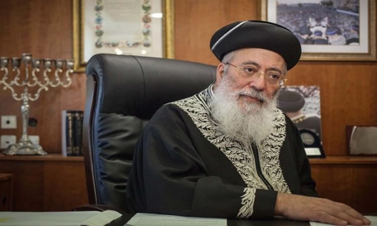 كبير حاخامات اسرائيل : قتل الفلسطينيين حلال وتقرب للرب !!