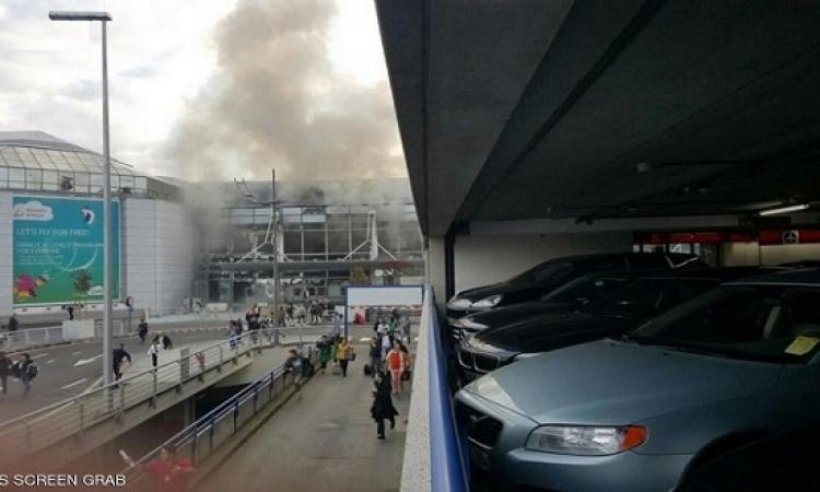عشرات الجرحى جراء انفجارين فى مطار بروكسل