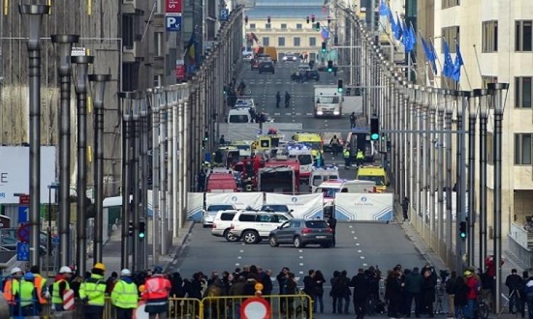 28 قتيلاً و65 مصاباً فى سلسلة تفجيرات تهز العاصمة البلجيكية بروكسل