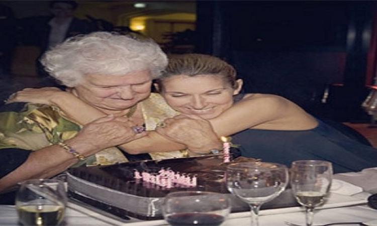 """سيلين ديون تحتفل بعيد ميلاد والدتها على موقع """"إنستجرام"""""""