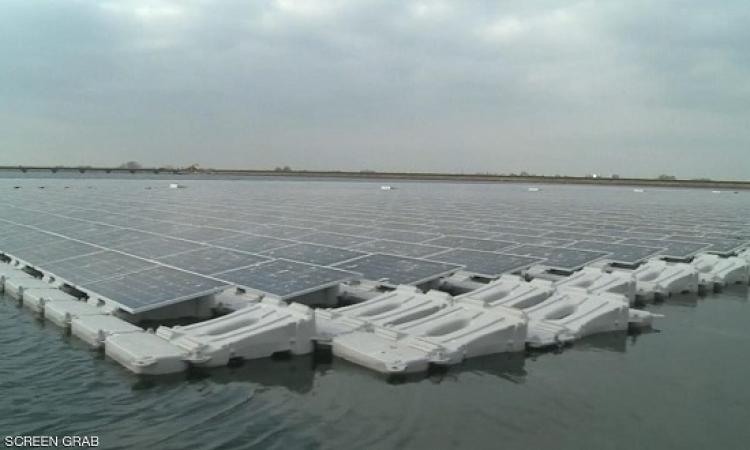 تدشين أكبر محطة عائمة للطاقة الشمسية فى أوروبا