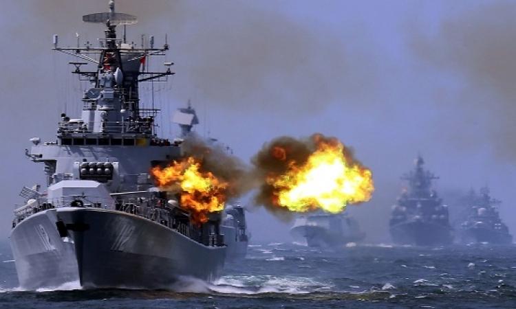 انطلاق التدريب البحرى المصرى الإماراتى الأمريكى تحية النسر