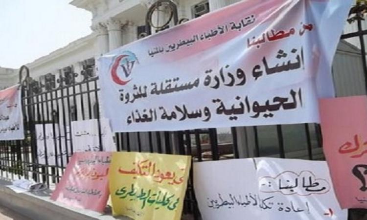 وقفة احتجاجية للأطباء البيطريين أمام مبنى دار الحكمة