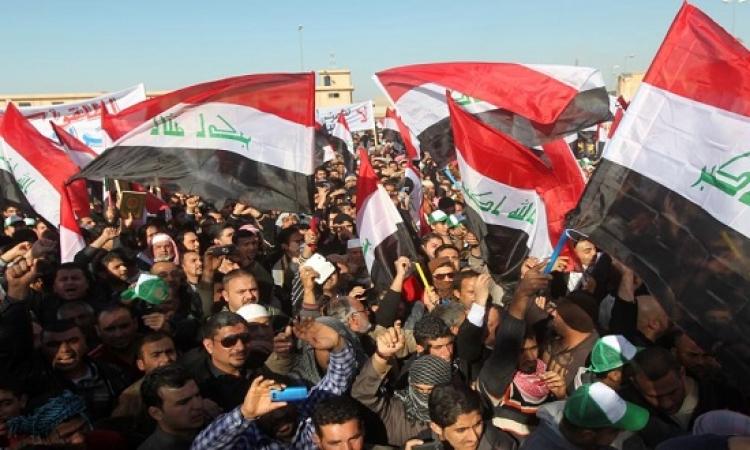 آلاف العراقيين يتظاهرون  فى كربلاء تأييدا لاعتصام الصدر