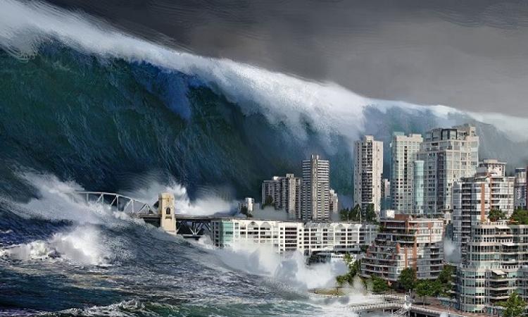 بالفيديو .. أمواج تسونامى المرعبة لحظة وقوعها .. عندما غضبت الطبيعة