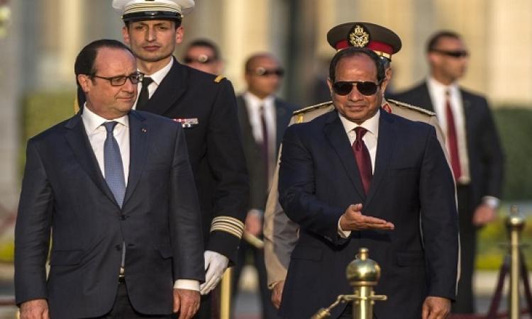 إشارات إيجابية من زيارة هولاند للقاهرة