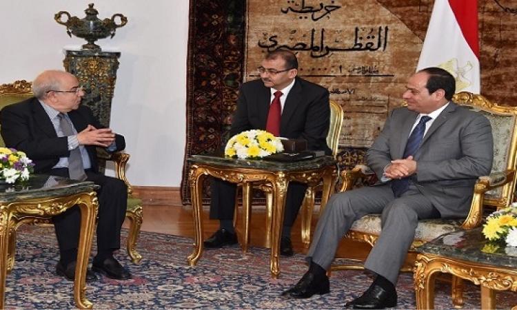 السيسى يعرب لرئيس برلمان قبرص عن اهتمام مصر بزيادة التعاون الثنائى