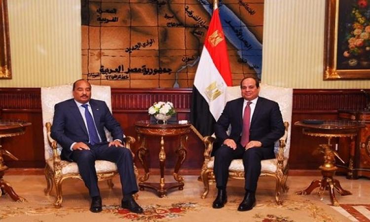 قمة مصرية موريتانية اليوم بين السيسى وولد عبد العزيز بالقاهرة