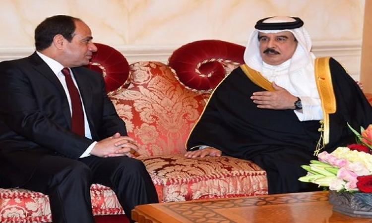 قمة بين الرئيس السيسى وملك البحرين فى الاتحادية اليوم
