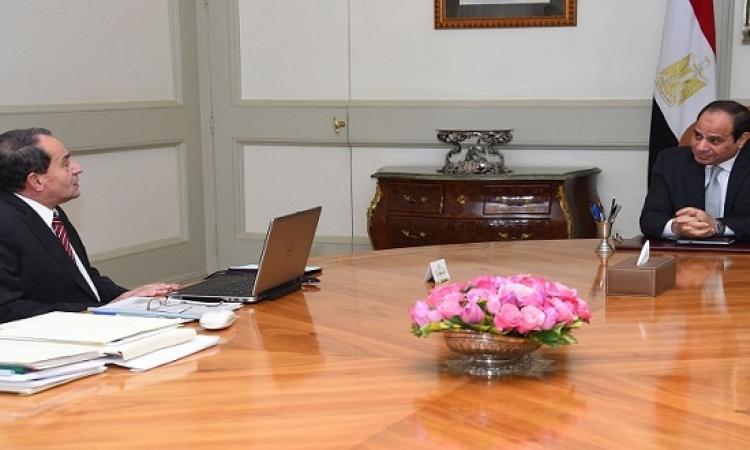السيسى يستعرض مشروع الـ 1.5 مليون فدان مع وزير الزراعة