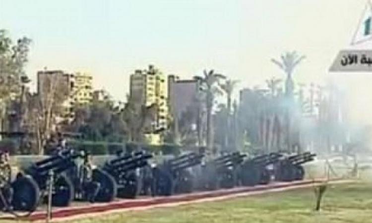 بالفيديو.. المدفعية تطلق 21 طلقة بزيارة الرئيس الفرنسى بقصر القبة